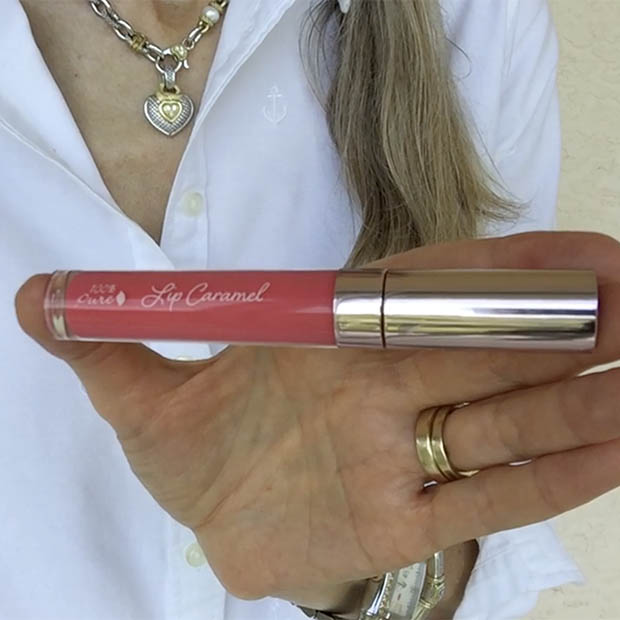 classic-beauty-over-50-100-percent-pure-lip-caramel-melon-drop