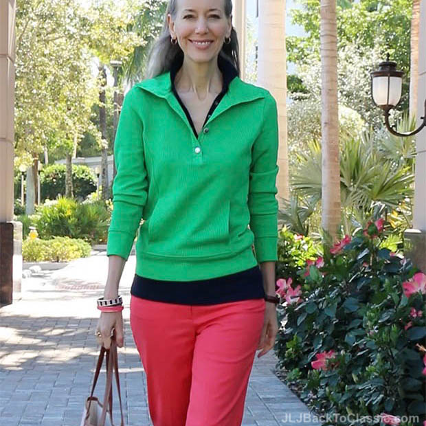 Classic-Fashion-Over-40-Ralph-Lauren-Kelly-Green-Pullover-Talbots-Perfect-Crop