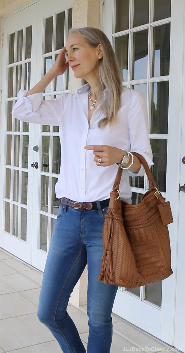 classic-style-over-50-oxford-button-up-skinny-jeans-janis-lyn-johnson