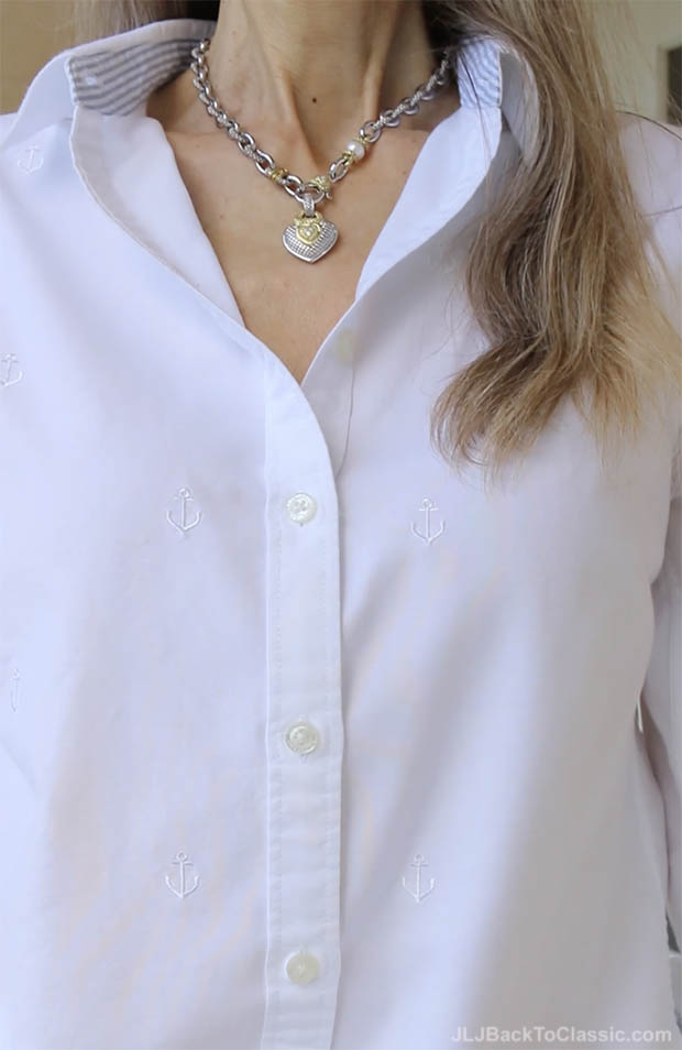 classic-fashion-over-40-lands-end-white-oxford-cloth-shirt