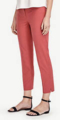 Classic-Fashion-Over-40-50-Ann-Taylor-Devin-Stretch-Cotton-Cropped-Pants-Marsala-Red