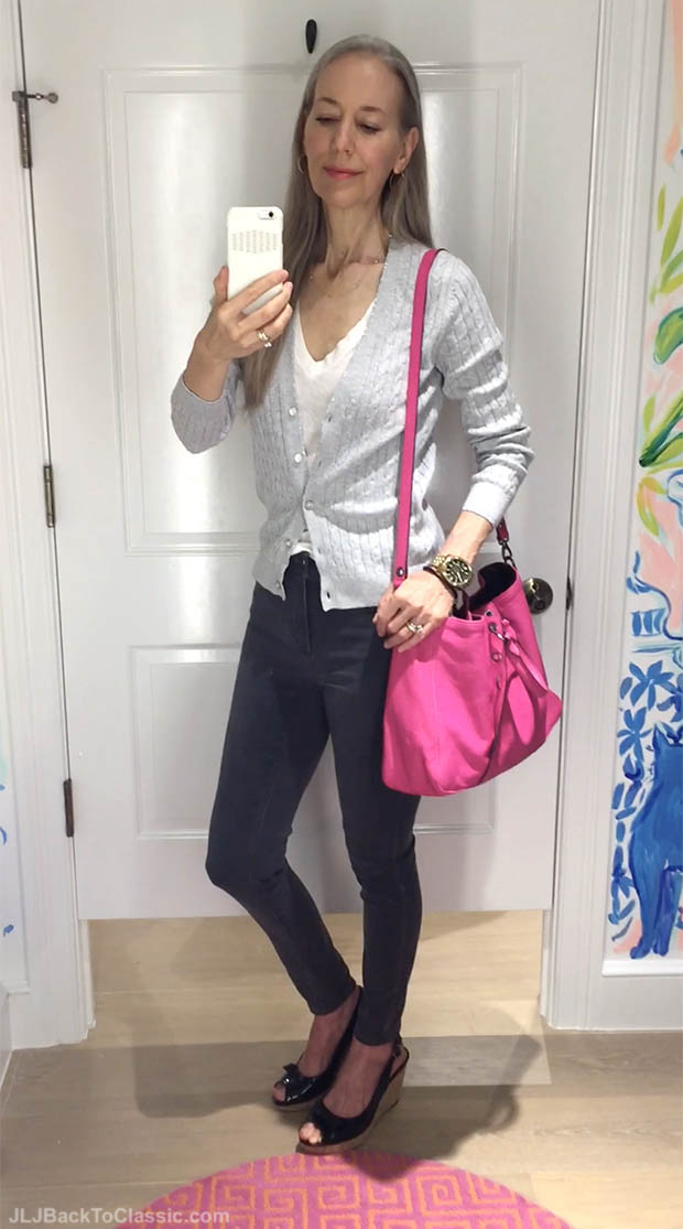 Fashion-Over-50-Talbots-Jeggings-Longchamp-3d-Trotters-Allie-Wedges-Janis-Lyn-Johnson