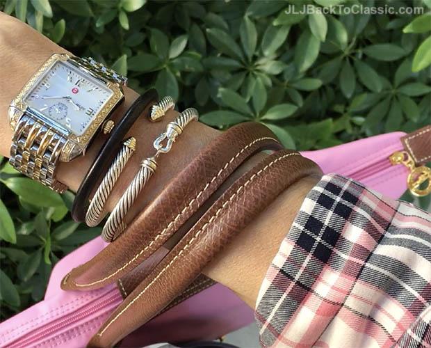 Classic-Fashion-Over-40-Michele-Deco-Watch-David-Yurman-Cable-Classics-Bracelets