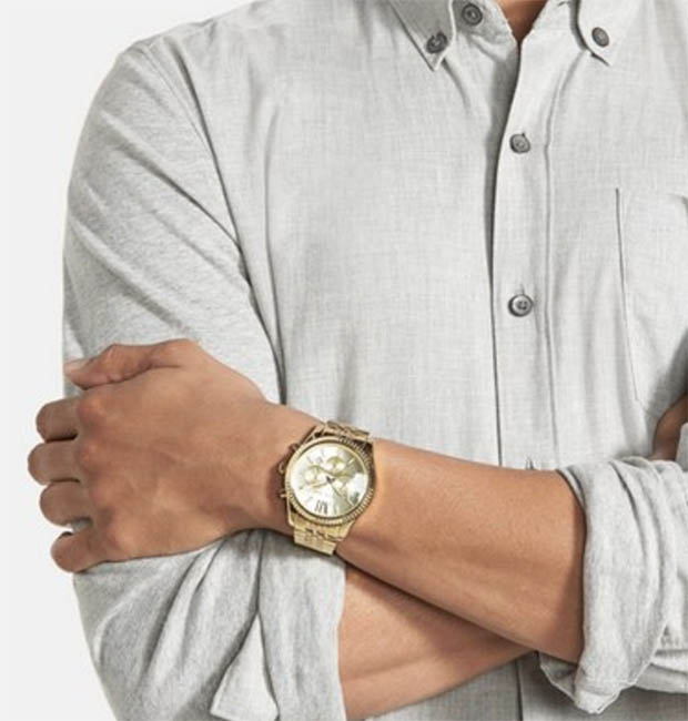 Classic-Fashion-Michael-Kors-Mens-Lexington-Chronograph-Watch-Great-For-Women-Too