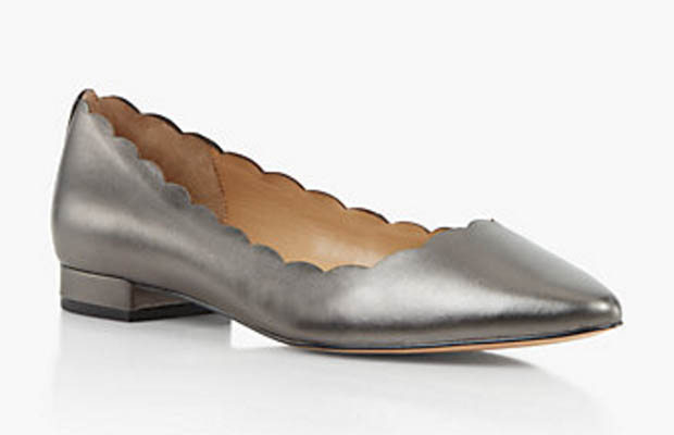 Classic-Fashion-Over-40-50-Talbots-Edson-Scalloped-Flats-Gunmetal