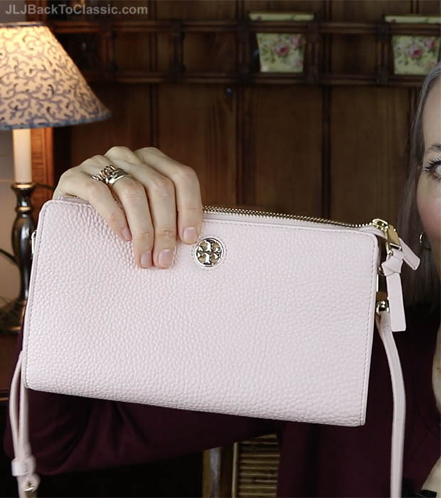 Classic-Fashion-Over-40-50-Tory-Burch-Robinson-Pebbled-Leather-Crossbody-Wallet-Sweet-Melon