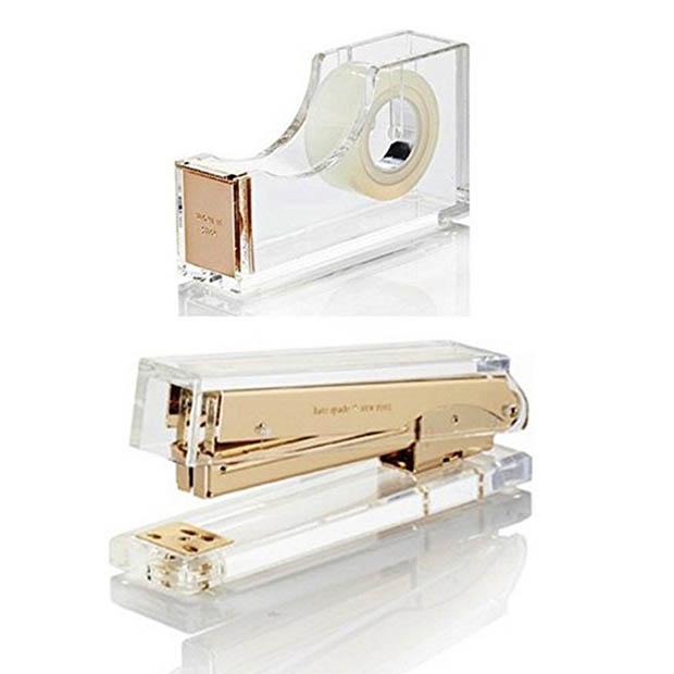 Classic-Office-Decor-Kate-Spade-Acrylic-Tape-Dispenser-And-Stapler-Amazon