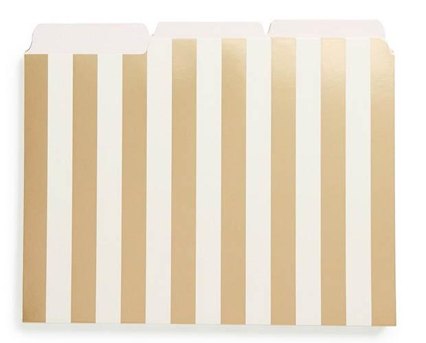 Classic-Office-Decor-Kate-Spade-Gold-Foil-Stripe-Folders-Amazon