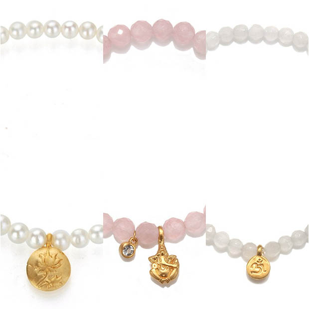 Classic-Fashion-Over-40-Satya-Pearl, Rose-Quartz-And-White-Jade-Stretch-Bracelets