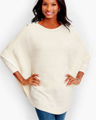 Classic-Fashion-Over-40-Talbots-Shoulder-Button-Poncho