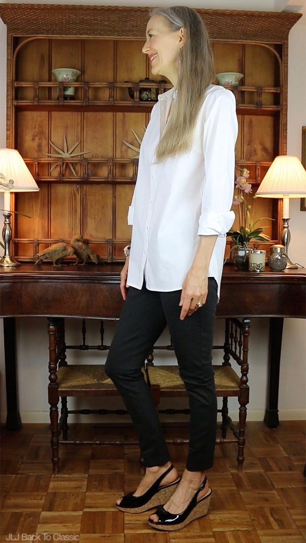 Classic-Fashion-Over-40-Isaac-Mizrahi-Long-Shirt-J-Crew-Pixie-Pant
