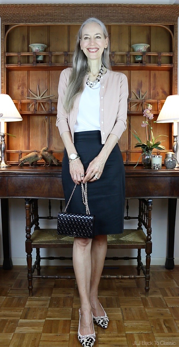 Classic-Fashion-Ann-Taylor-Cardigan-Kate-Spade-Leopard-Slingback-Fendi-Shoulder-Bag