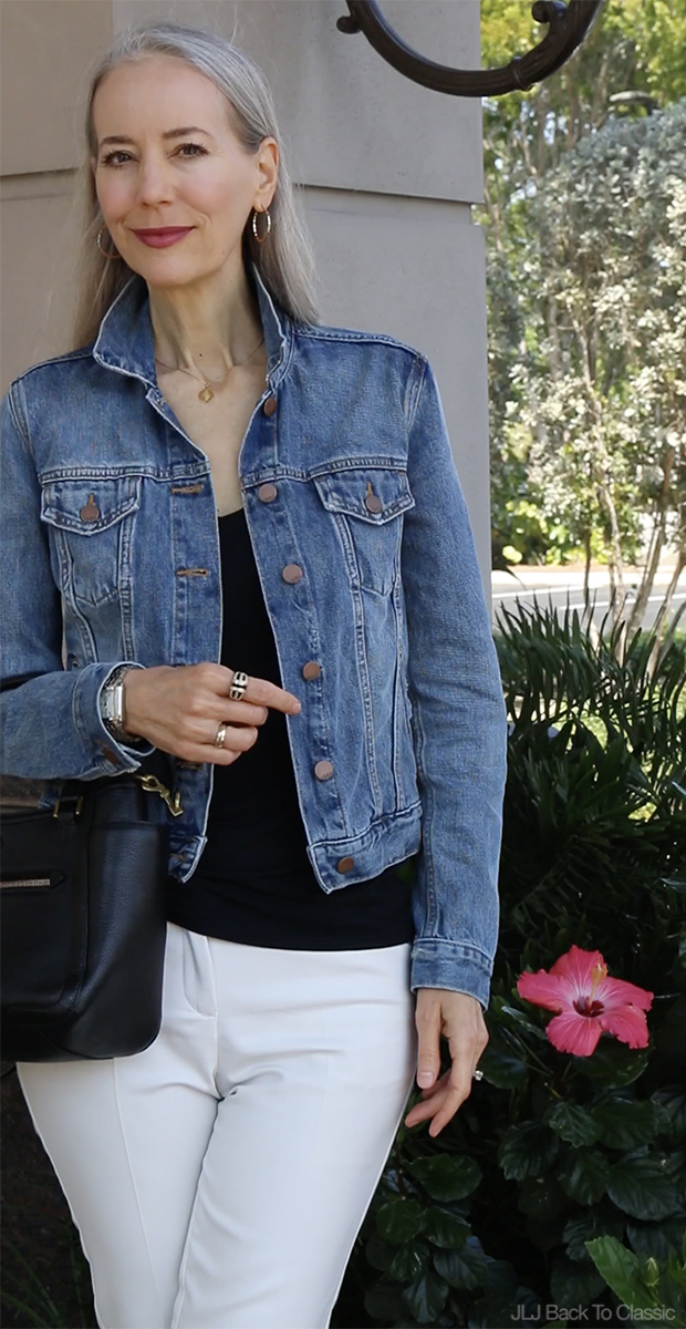 delicate colors many fashionable cheapest price Video Chat & OOTD) Classic Fashion Over 40-50: Denim Jacket, Black ...
