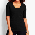 Classic-Fashion-Over-40-50-Talbots-Rounded-Neck-Tee