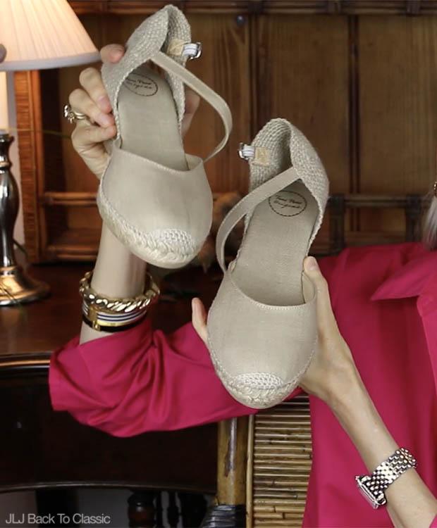 Classic-Fashion-Over-40-Toni-Pons-Caldes-Linen-Wedge-Sandle-Stone
