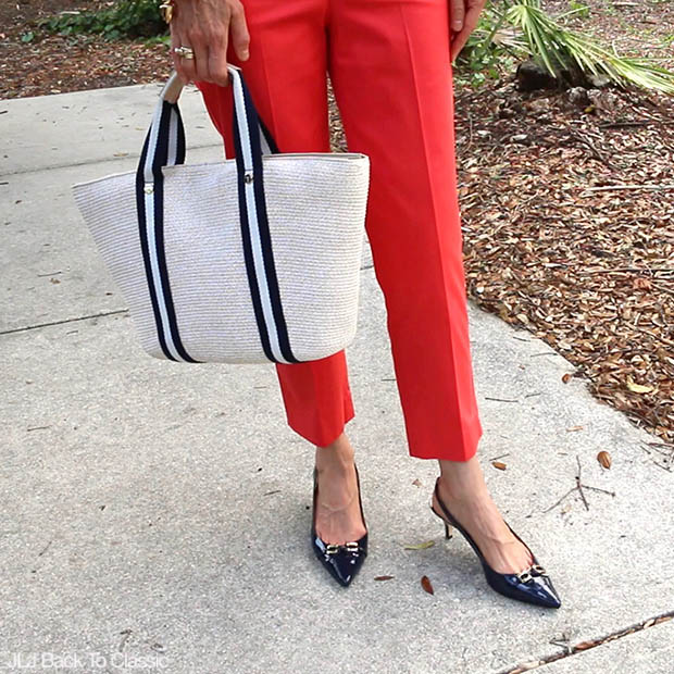 Classic-Fashion-Over-40-50-Talbots-Perfect-Crop-Pant-Navy-Slingback-Pump