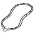 Classic-Fashion-Over-40-David-Yurman-Double-Wheat-Chain-Necklace-With-Gold