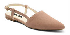 Kensie-Cary-Point-Toe-Suede Flats