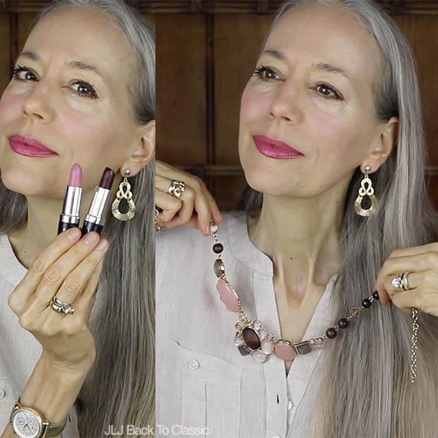 Classic-Fashion-Over-40-Hemp-Colorganics-Lipsticks-Talbots-Cabohon-and-Bead-Necklace