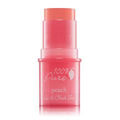 100-Percent-Pure Peach-Glow-Lip-And-Cheek-Tint