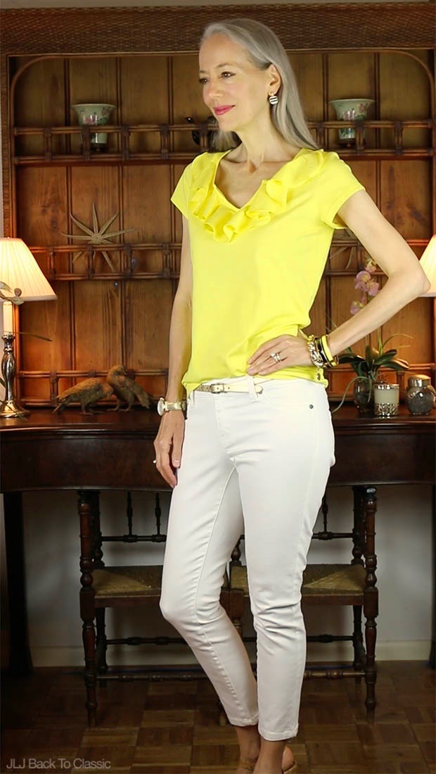 Classic-Fashion-Over-40-Isaac-Mizrahi-Ruffle-Front-Tee-Janis-Lyn-Johnson