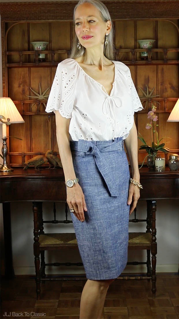 anis-Lyn-Johnson-Cynthia-Rowley-Eyelet-Top-Ann-Taylor-Paper-Bag-Skirt