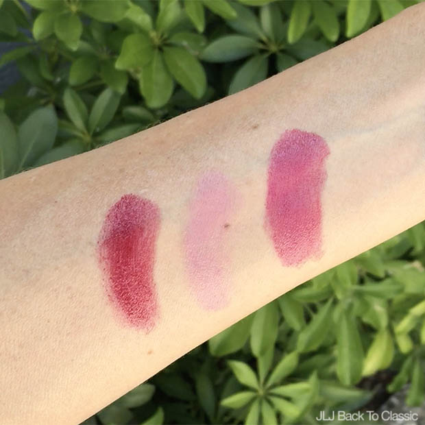 Classic-Beauty-Over-50-Hemp-Organics-Ruby, Rose-Petal-Lipsticks-Combined-Swatches