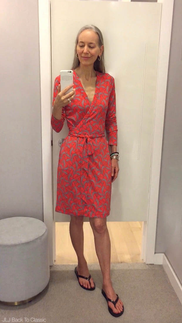 Classic-Fashion-Over-40-Ann-taylor-Fern-Always-On-Wrap-Dress