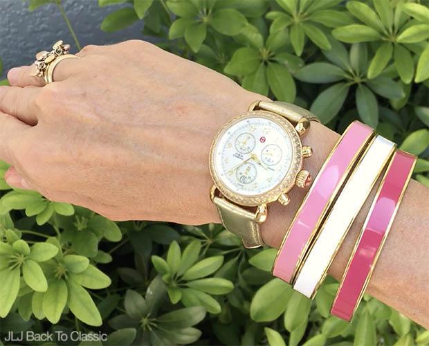 Classic-Fashion-Over-40-50-Michele-CSX-Watch-Talbots-Enamel-Bangles