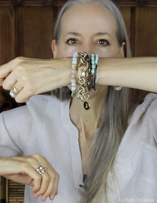 Classic-Fashion-Initial-Bracelet-Amazonite-Multistrand-Bracelet-and-Talbots-Rope-Link-Bracelet