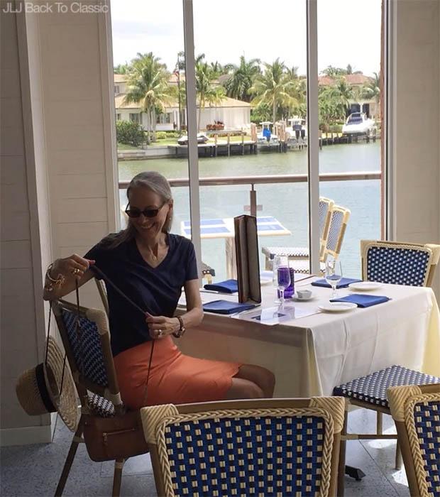 Classic-Fashion-Over-40-50-Vlog-Venetian Village-Fish-Restaurant-Janis-Lyn-Johnson