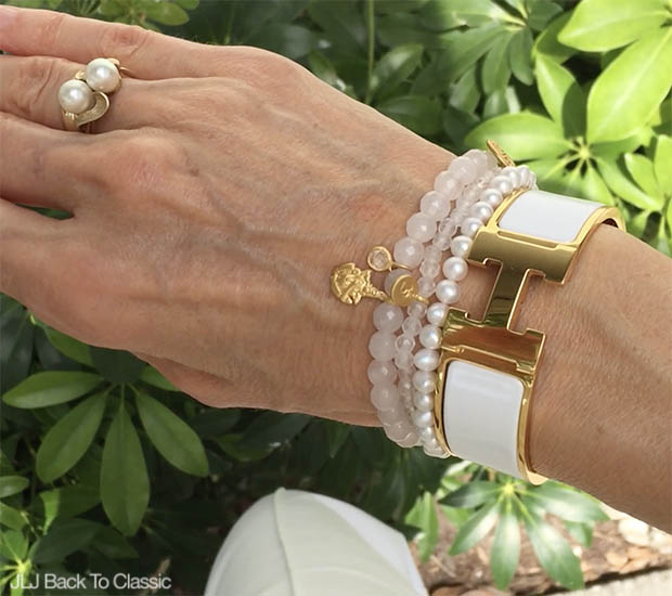 Classic-Fashion-Over-40-Hermes-H-Bracelet-Satya-Stretch-Precious-Stone-Bracelets