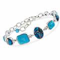 Ross-Simons-Multi-Shape-Turquoise-Bracelet-Silver