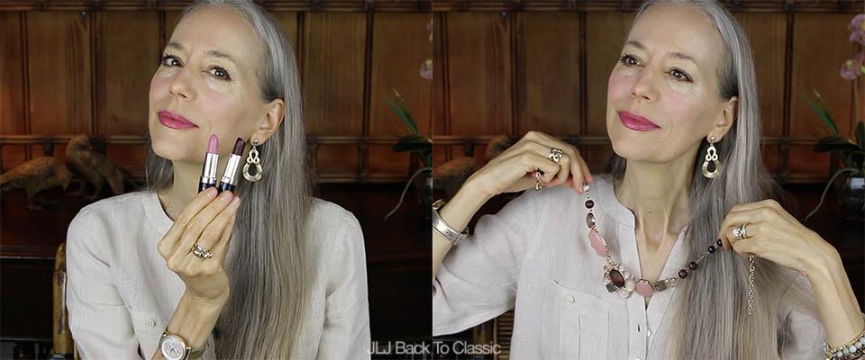 Classic-Fashion-Over-40-Hemp-Organics-Lipsticks-Talbots-Cabochon-And-Bead-Necklace