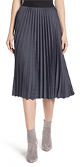 Halogen-Gray-Pleat-Midi-Skirt
