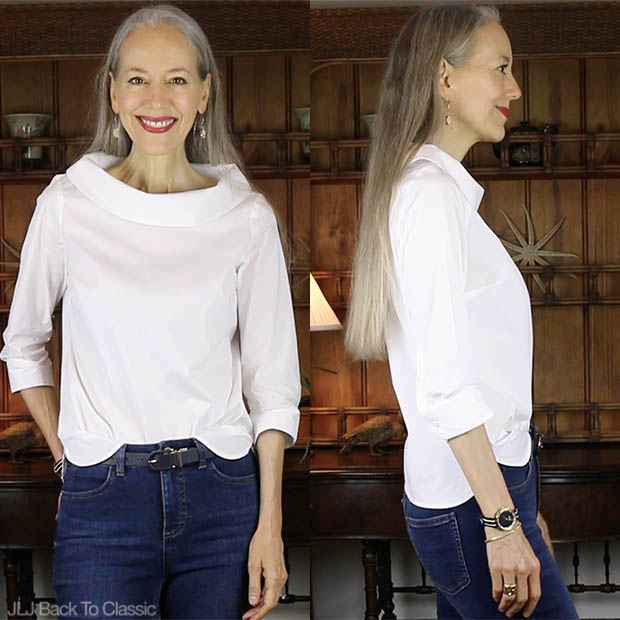 Classic-Fashion-Style-Over-40-50-Talbots-Portrait-Collar-Shirt