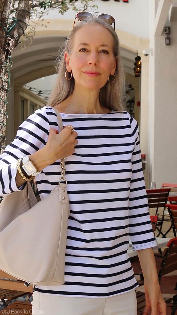 Fashion-Over-40-Kate-Spade-Boerum-Place-Medium-Serena-Black-Striped-Tee