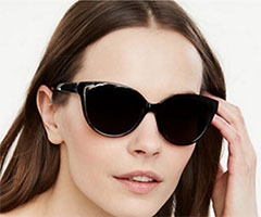 Ann-Taylor-Black-Cateye-Sunglasses