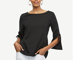 Ann-Taylor-Slit-Sleeve-Top