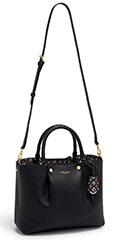 Henri-Bendel-Claremont-Satchel-Black-With-Interior-Foulard-Print-With-Shoulder-Strap