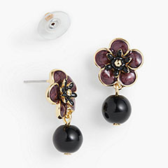 Talbots-Flower-Stud-And-Bead-Drop-Earrings