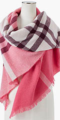 Talbots-Fringed-Plaid-Wrap-Neon-Pink-Multi