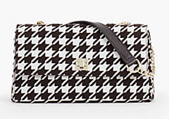 Talbots-Houndstooth-Shoulder-Bag-Black-And-White