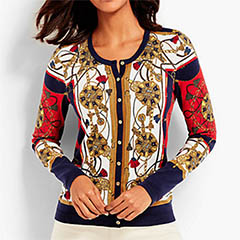 Talbots-Status-Print-Charming-Cardigan-Classic-Fashion-Over-40-50