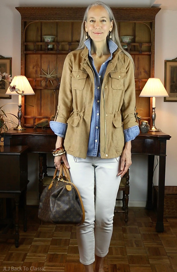 Vince-Camuto-Faux-Suede-Utility-Jacket-Camel-Speedy-30-White-Skinny-Jeans