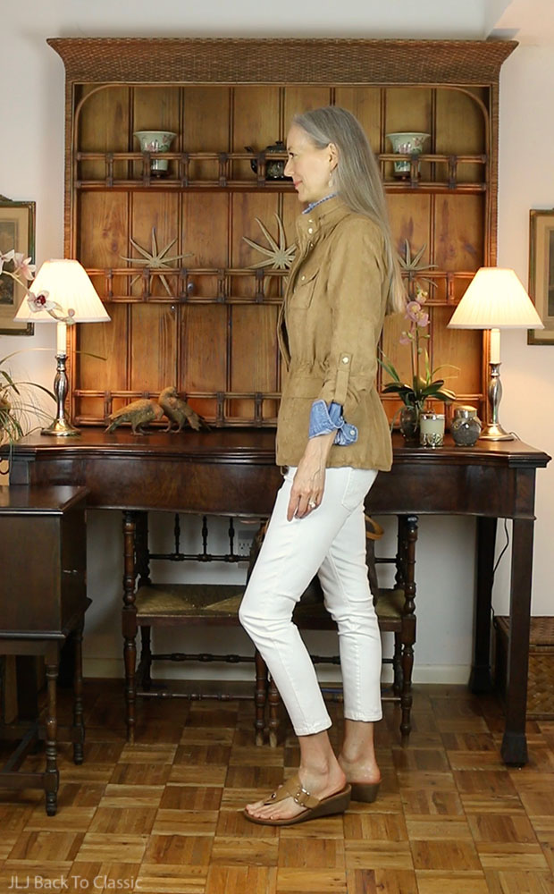 Faux-Suede-Utility-Jacket-Camel-White-Skinny-Jeans-Janis-Lyn-Johnson
