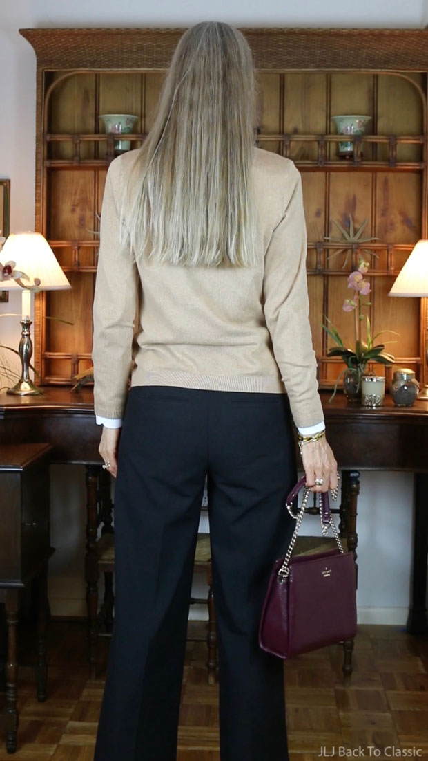 Fashion-Over-50-Talbots-Cardigan-Black-Wide-Leg-Pants-Kate-Spade-Bag