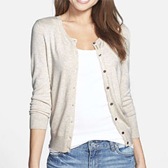 Halogen-three-quarter-sleeve-cardigan