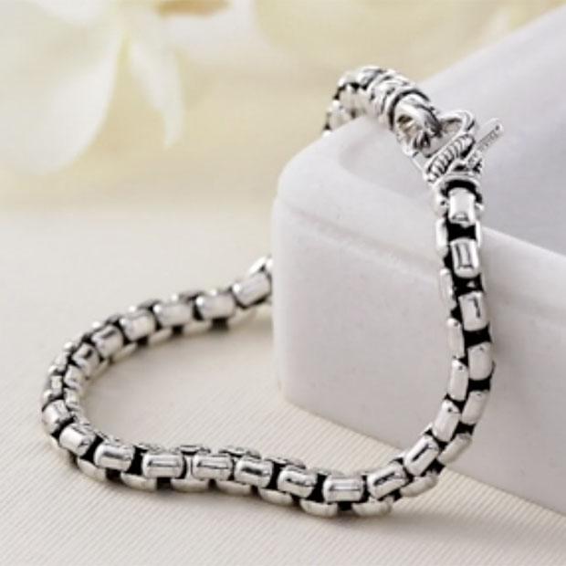 JAI-By-John-Hardy-21.4g-Sterling-Silver-Round-Box-Chain-Bracelet