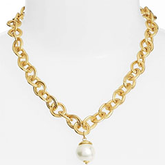 Karine-Sultan-Short-Imitation-Pearl-Collar-Necklace